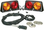 Wesbar Agriculture Light Kit w Brake Light Function, 7-Pole Plug - Driver/Passenger Side - Amber/Red