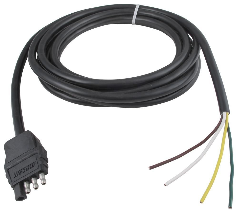 4 Wire Flat Trailer Wiring Free Diagram For You Wesbar Lights Pole Connector W Jacketed Cable