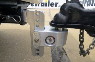 Weigh Safe ball mount coupled to a trailer