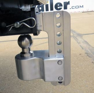 Weigh Safe ball mount shown in stowed position