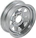 "13"" Trailer Wheel, Chrome Spoke 5 on 4-1/2, 4-1/2"" Width"