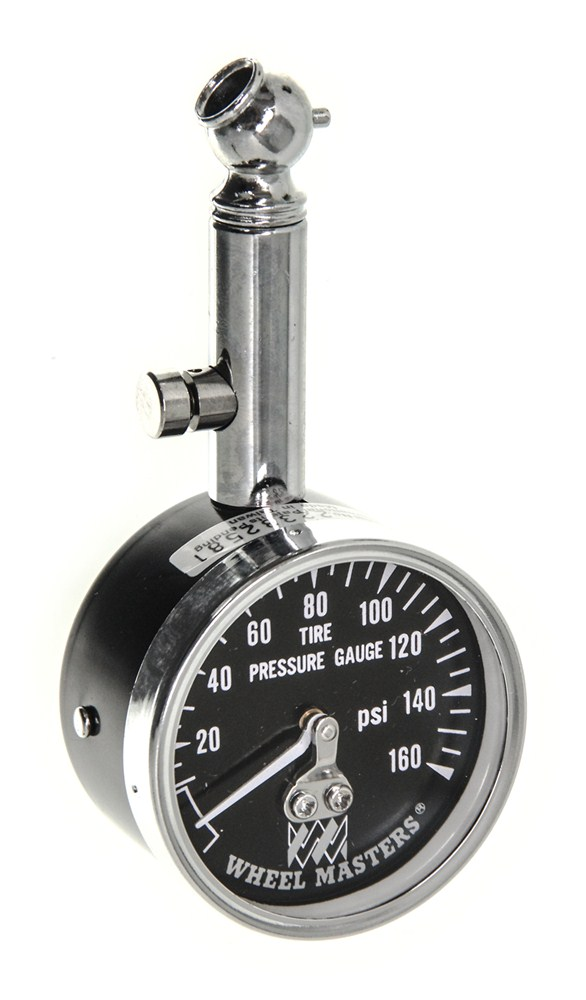 wheel masters analog tire pressure gauge for trucks and rvs 10 to 160 psi wheel masters tools. Black Bedroom Furniture Sets. Home Design Ideas