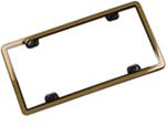 WeatherTech ClearFrame License-Plate Frame - Gold