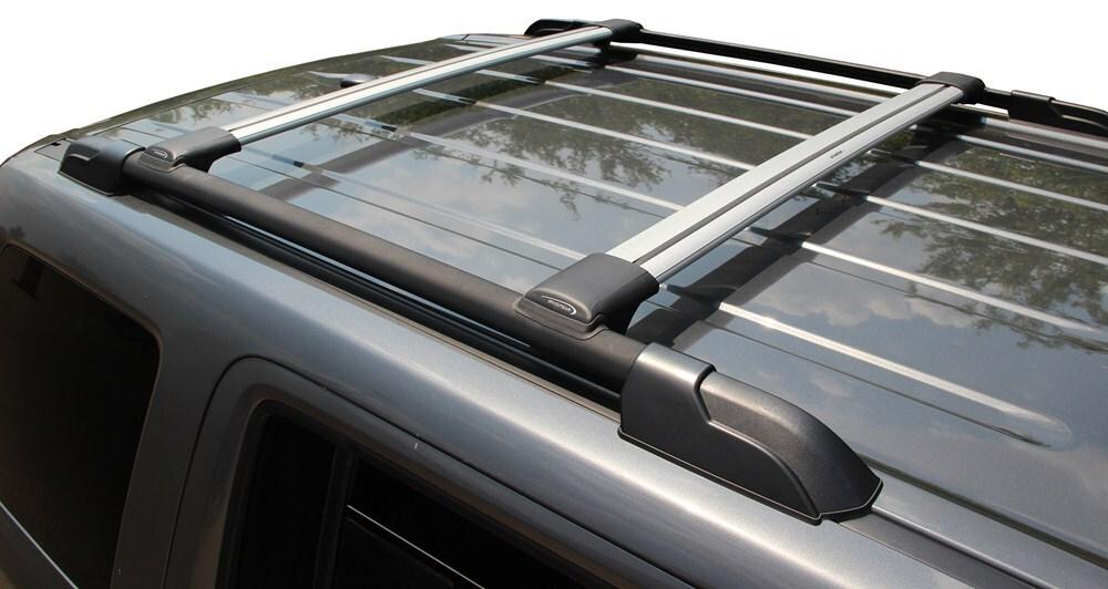 Whispbar rail bar roof rack for raised factory side rails aluminum 2 crossbars whispbar