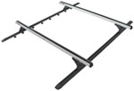 "Rhino-Rack Roof Rack System w/ 2 Heavy-Duty Crossbars - Track Mount - Silver - 65"" Long"