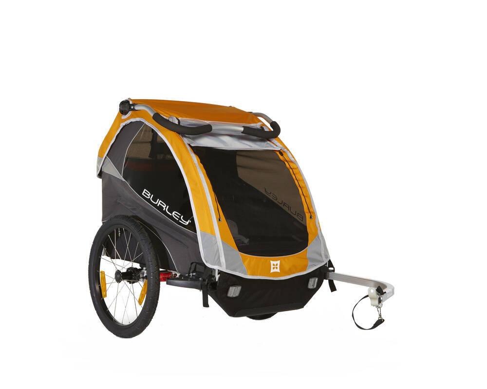 burley d 39 lite bike trailer and ski trailer 2 child. Black Bedroom Furniture Sets. Home Design Ideas