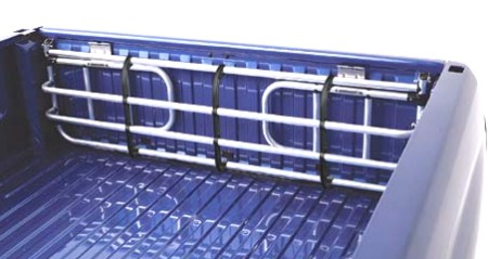 Fold Down Truck Bed Extender Anodized Silver Topline Bed