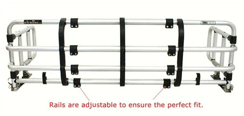 Rails are adjustable to ensure the perfect fit