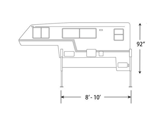 Truck Camper Dimensions Truck Camper Diagram