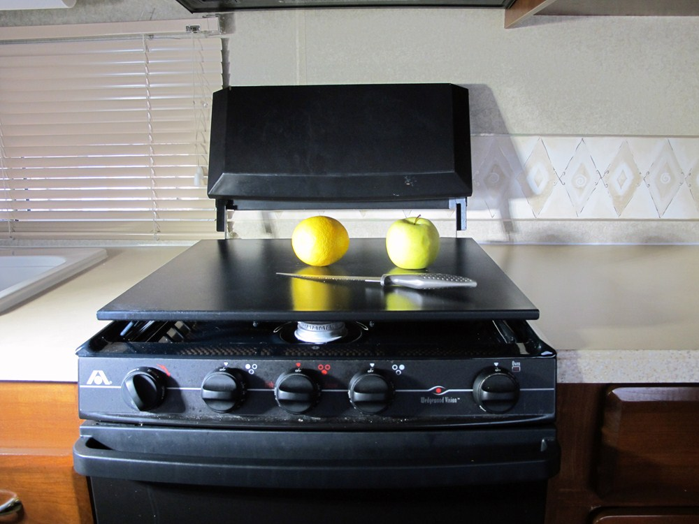 Cutting Countertop For Stove : Camco Decor-Mate RV Stovetop Silencer, Countertop, and Cutting Board ...