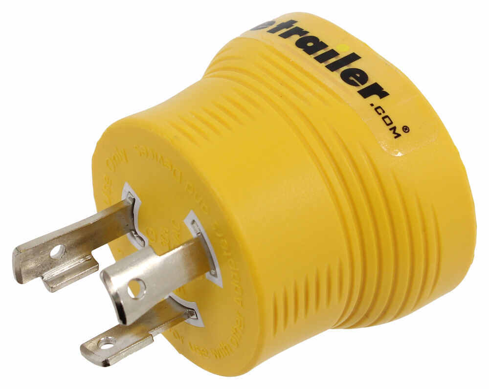 Power Grip Generator Plug Adapter for RV Power Cord - 30 Amps - 3