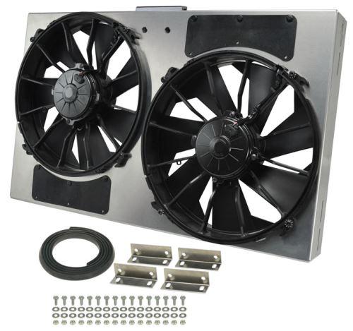 2000 Cfm Fan : Derale quot dual high output electric radiator fan w