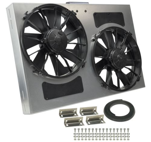 Derale 27 dual high output electric radiator fan w aluminum derale a12 dual powerpack asfbconference2016 Choice Image