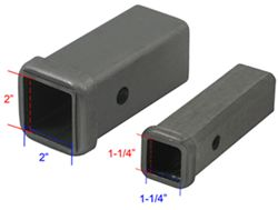 "2"" x 2"" and 1-1/4"" x 1-1/4"" Hitch Receiver Openings"