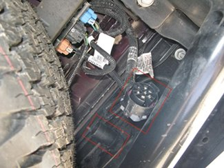 brake controller installation for new body style gmc the 7 pole factory installed plug has been removed from inside the rear bumper