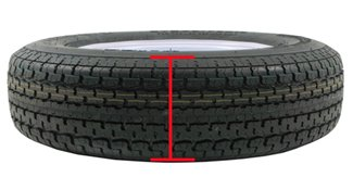 section width of trailer tire