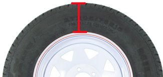 section height of trailer tire