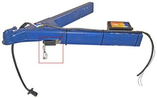 the breakaway switch has been mounted towards the front of the trailer  frame, between the