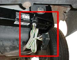 a: if the vehicle is already set-up with a flat 4-pole trailer connector,  then plug it into the 4-pole on the back of the 6- or 7-way adapter that  comes