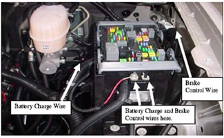 installing an electric brake controller on gm full size fuse box under the hood