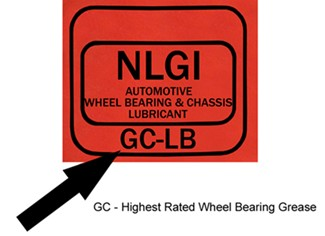 NLGI grease label showing GC