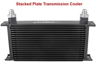 Stacked plate cooler