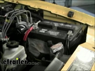 Automotive battery in vehicle