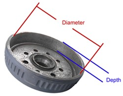Drum with diameter and depth indicated