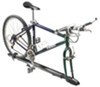 Fork mount roof bicycle carrier with bicycle