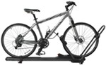 Wheel mount roof bicycle carrier with bicycle
