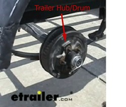 parts needed to add hydraulic drum brakes to a trailer. Black Bedroom Furniture Sets. Home Design Ideas