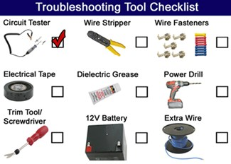 Troubleshooting Tool Checklist
