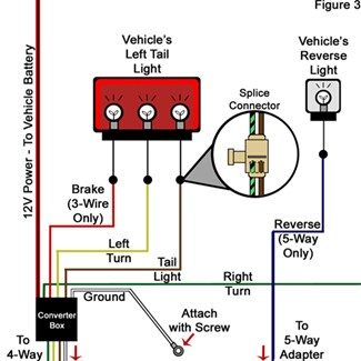 troubleshooting 4 and 5 way wiring installations etrailer com Tail Lights 12 Volt Positive Ground Model A hard wire installation