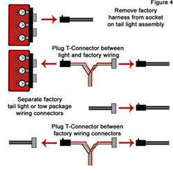 troubleshooting 4 and 5 way wiring installations etrailer com t connector installation