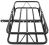 Fixed, flat hitch-mounted cargo carrier