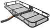 Fixed flat hitch-mounted cargo carrier
