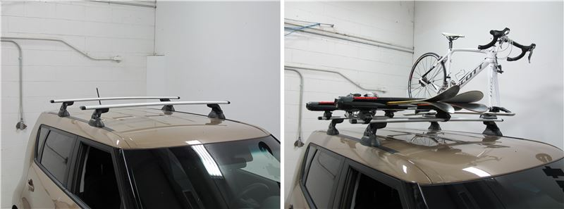 yakima jetstream crossbars aluminum silver  long qty  yakima roof rack