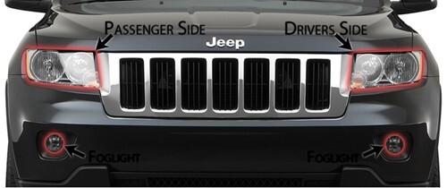 2011 Jeep Grand Cherokee Headlight Lens Protectors