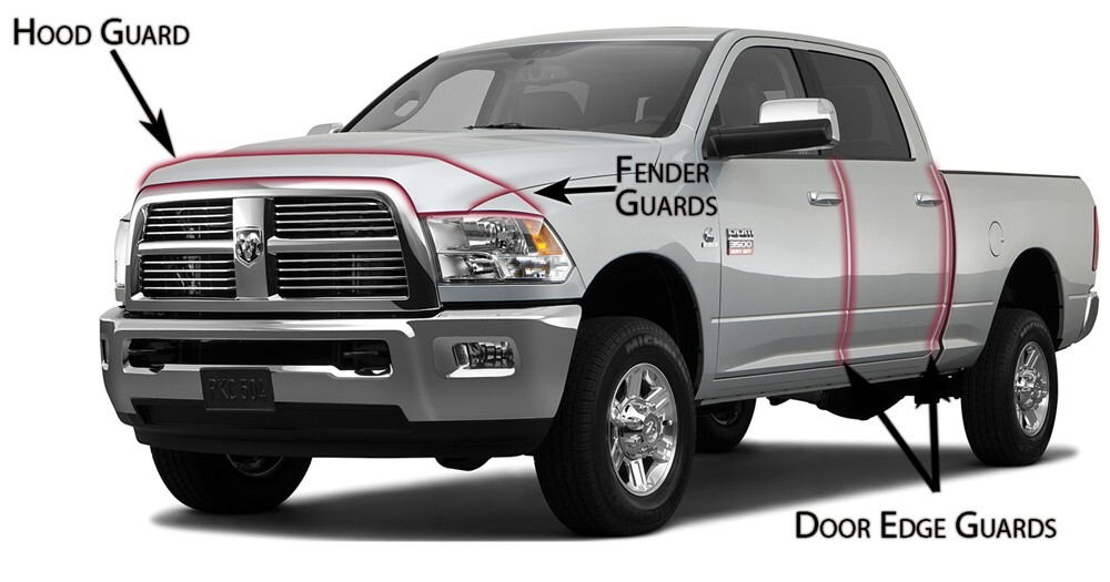 husky liners bug shield for dodge ram pickup 2011 hl06669. Black Bedroom Furniture Sets. Home Design Ideas