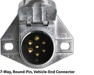 7-Way, Round-Pin, Vehicle-End Connector