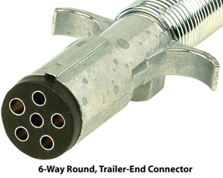 6-Way Round, Trailer-End Connector