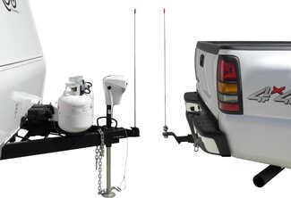 Easy-Hitch Hitch Aligner mounted on vehicle and trailer