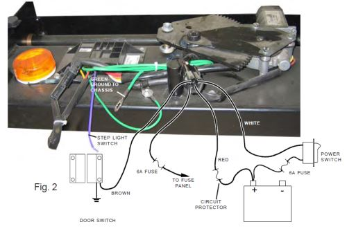 lc301692diagram_2_500 replacement wiring harness for lippert electric coach step lippert 110V Outlet Wiring Diagram at gsmx.co