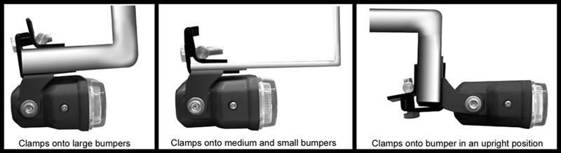 Bully Bumper Mount Backup Light Clamp On Pilot