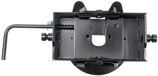 Pro Series Fifth Wheel 4-Way-Pivoting Head with Rounded-Slide-Bar System