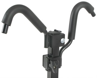 Pro Series Q-Slot bike rack adjustable hooks on upright arm
