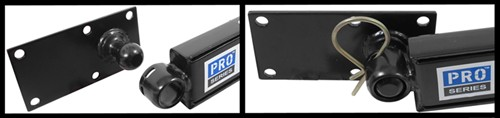 Pro Series Weight Distribution friction sway control installation on trailer frame