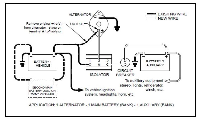 battery isolator wiring diagram schematic typical battery isolator wiring diagram