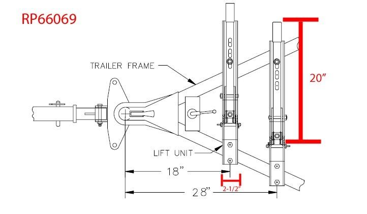 fork lift turning radius diagram