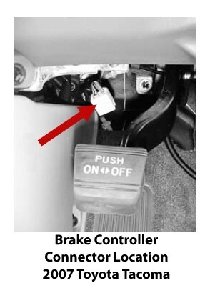Location of Trailer Brake Controller Port on a 2007 Toyota